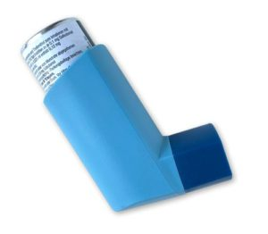 Ein blauer Inhalator